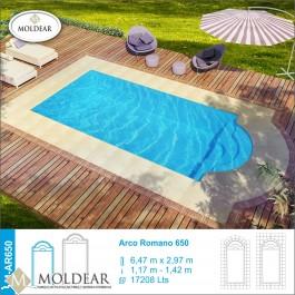Pileta de fibra de vidrio l nea arco romano m ar650 for Piscinas de material precios